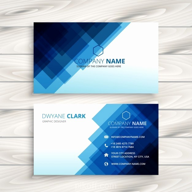 Calling Card Template Free Download Awesome [ai] Abstract Blue Business Card Template Vector Free
