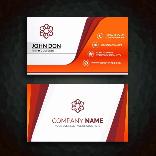 Calling Card Template Free Download Awesome Business Card Template Vector
