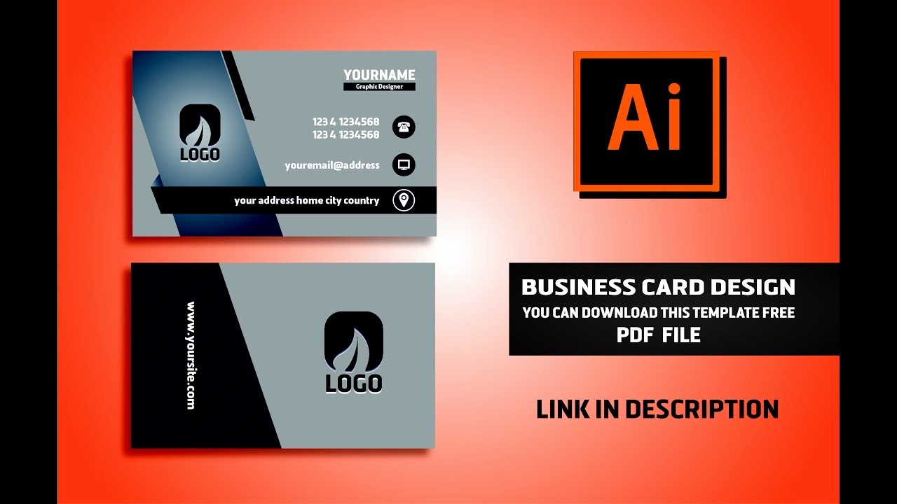Calling Card Template Free Download Best Of Business Card Template Illustrator Download Abe6267b0c50
