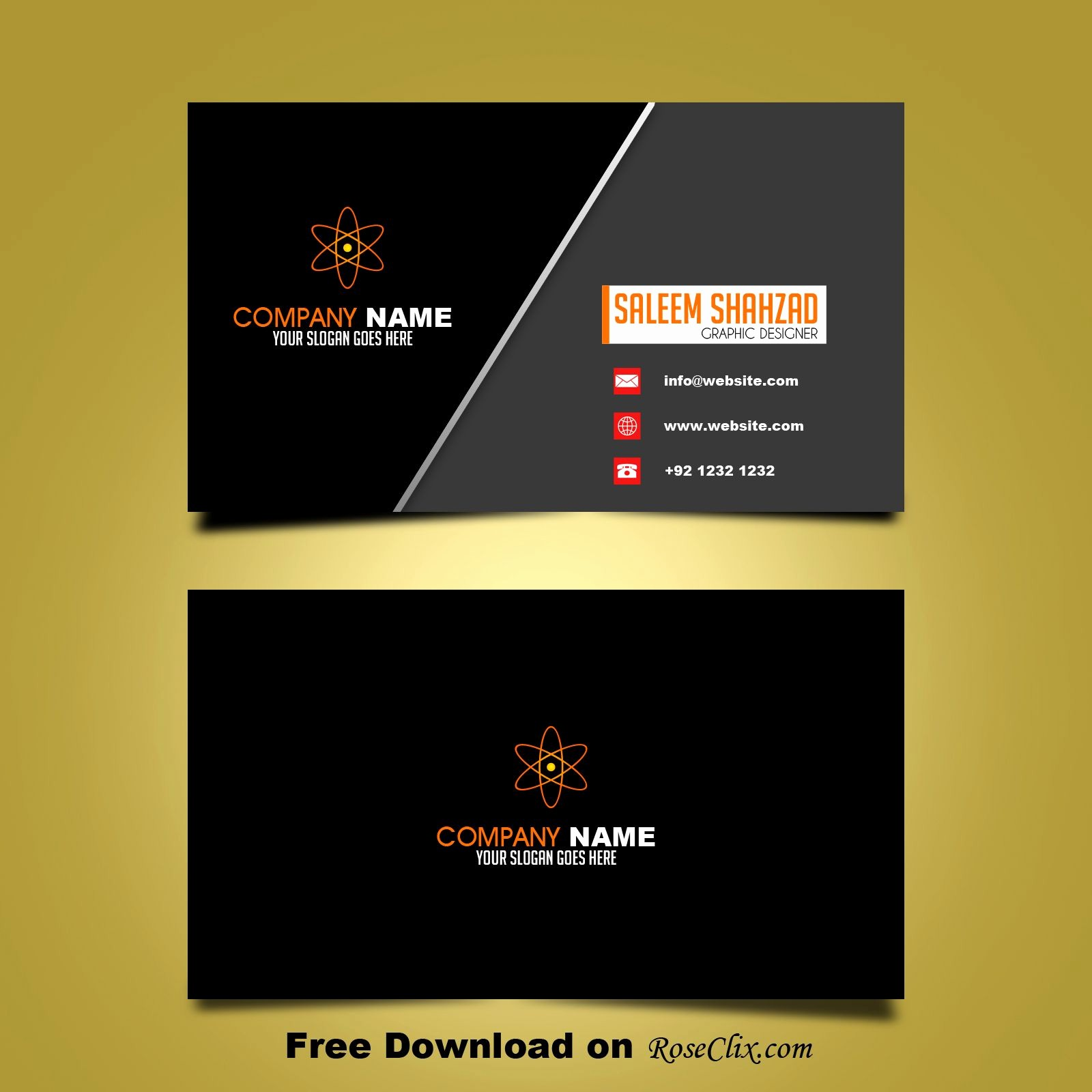 Calling Card Template Free Download Best Of Free Business Card Design Template Vector Shapes Psd