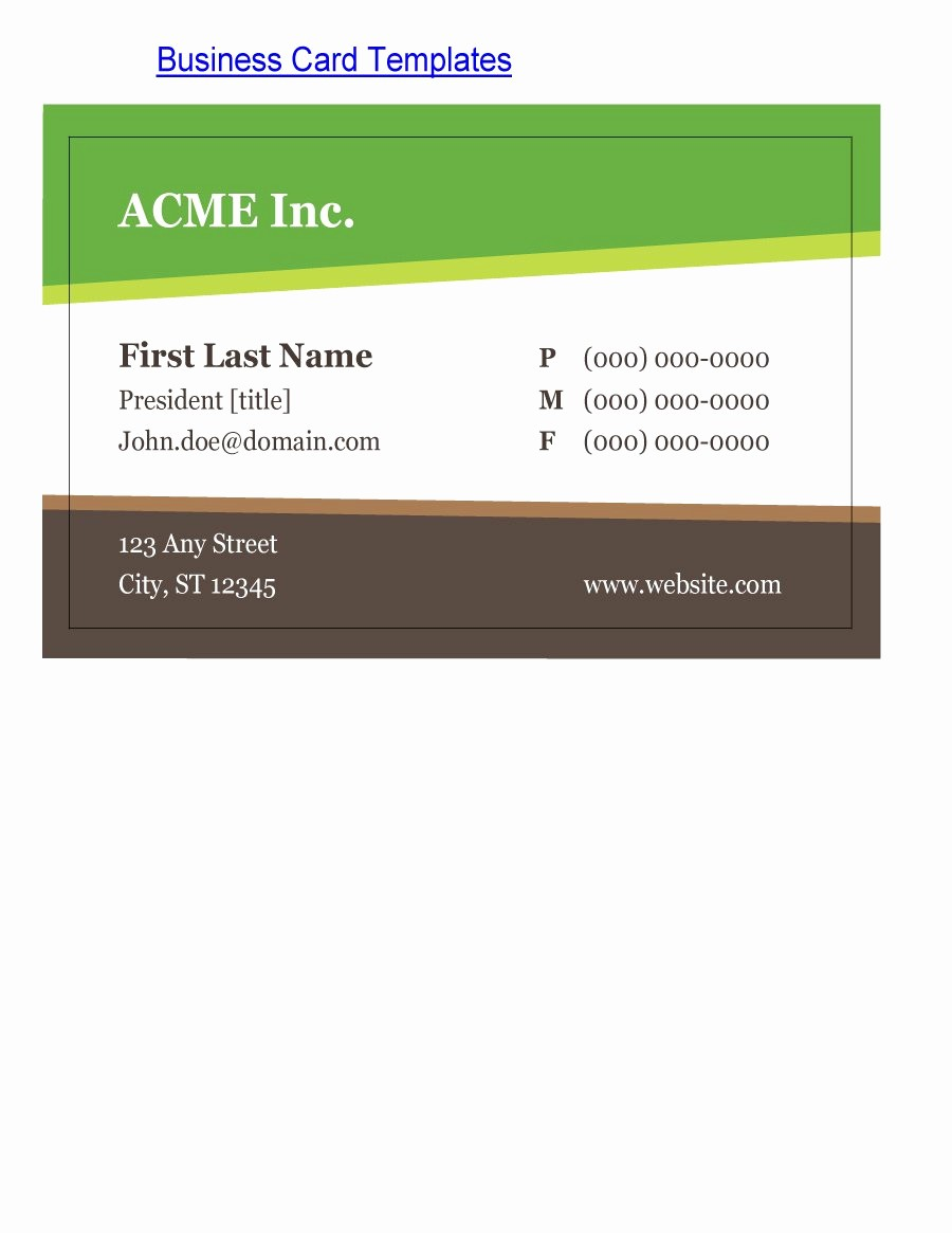 Calling Card Template Free Download Elegant 43 Free Business Card Templates Free Template Downloads