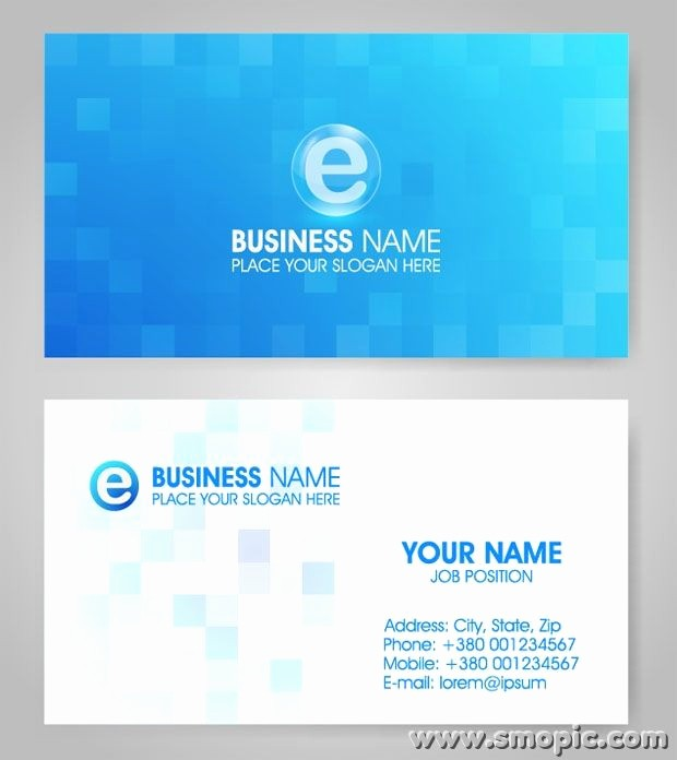 Calling Card Template Free Download Elegant Vector Lattice Blue Card Background Design Template