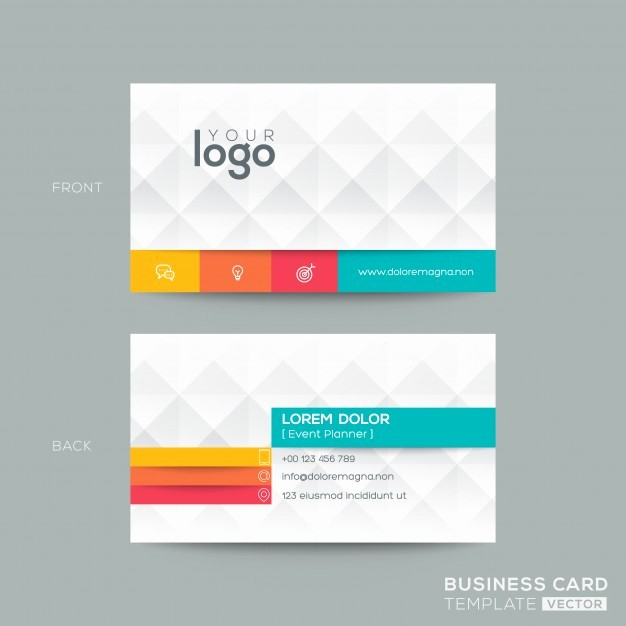 Calling Card Template Free Download Inspirational Polygonal Business Card with 3d Effect Vector