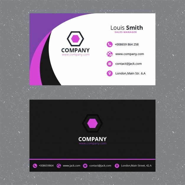 Calling Card Template Free Download Inspirational Purple Business Card Template Psd File