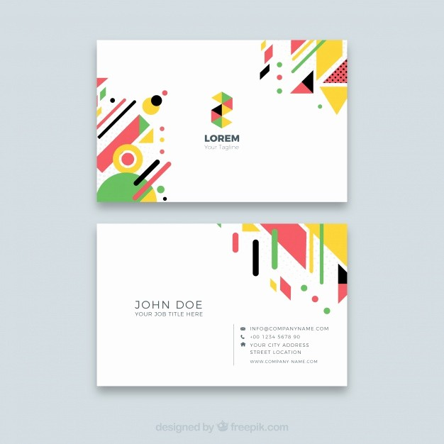 Calling Card Template Free Download Luxury Abstract Business Card Template Vector