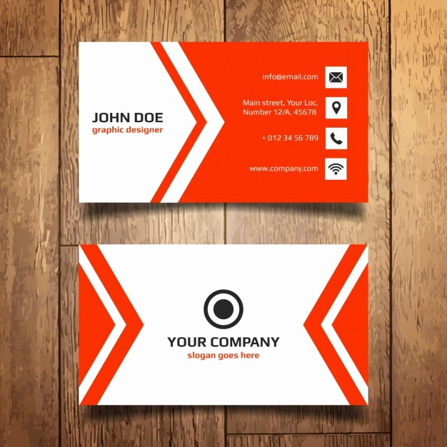 Calling Card Template Free Download Luxury Red Business Card Template Vector