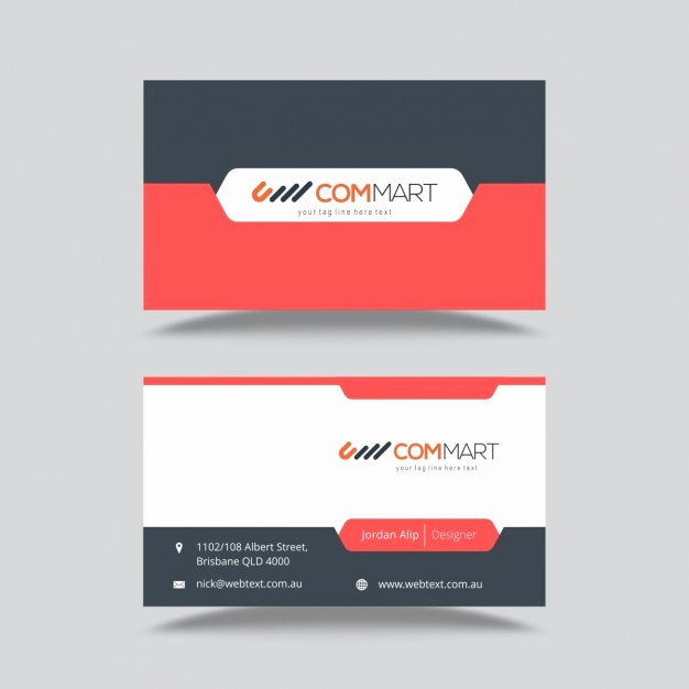 Calling Card Template Free Download New Business Card Template Vector