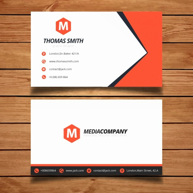 Calling Card Template Free Download Unique Red Business Card Template Design Vector