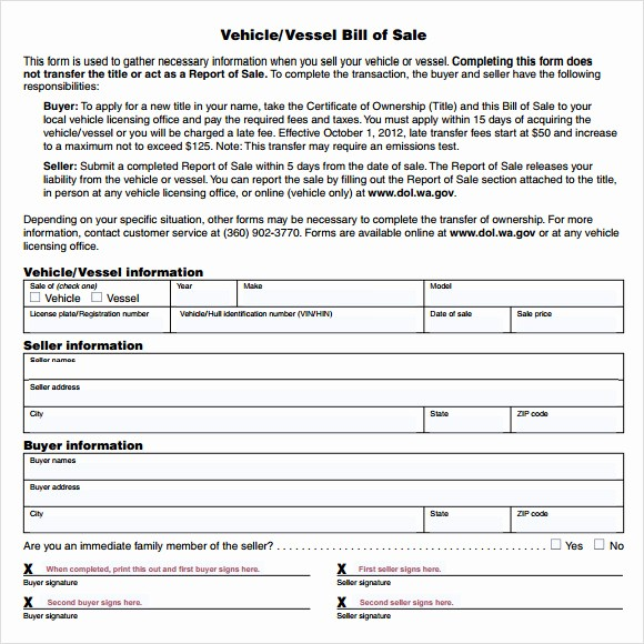 Car Bill Of Sell Template Unique 14 Sample Vehicle Bill Of Sales – Pdf Word