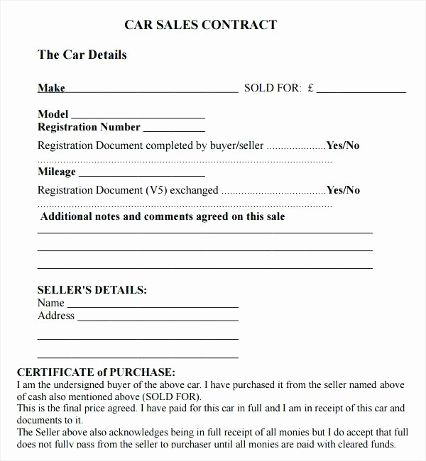 Car Deed Of Sale Pdf Beautiful Agreement Sale Template for A Vehicle Sample Private