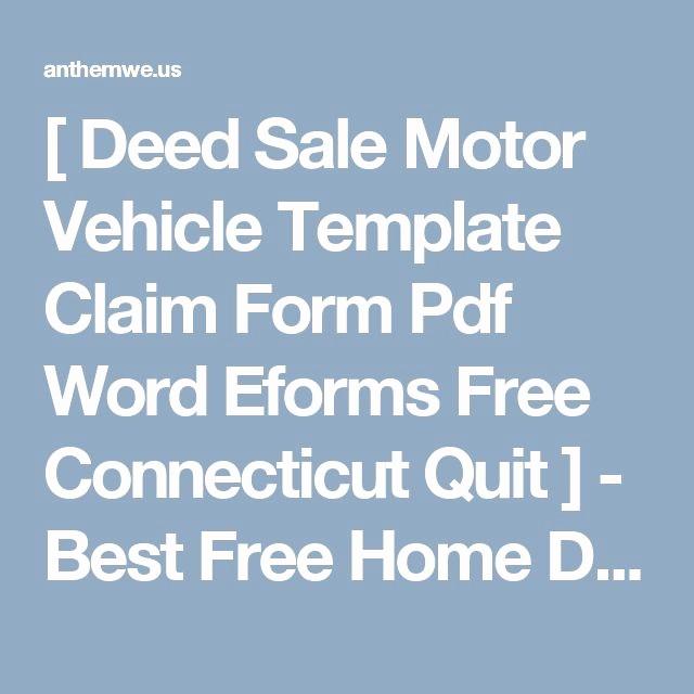 Car Deed Of Sale Pdf Inspirational [ Deed Sale Motor Vehicle Template Claim form Pdf Word