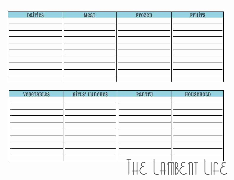 Carpool Sign Up Sheet Template Best Of Down and Dirty Of Clean Eating Meal Planning