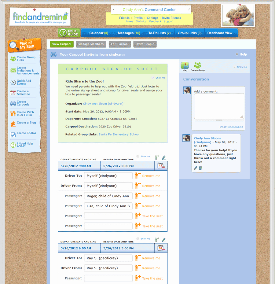 Carpool Sign Up Sheet Template Lovely tour Findandremind S Incredible Features