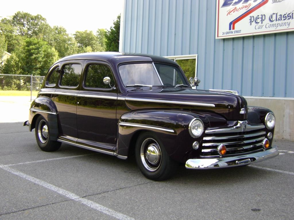 1948 ford 4 door maroon sedan