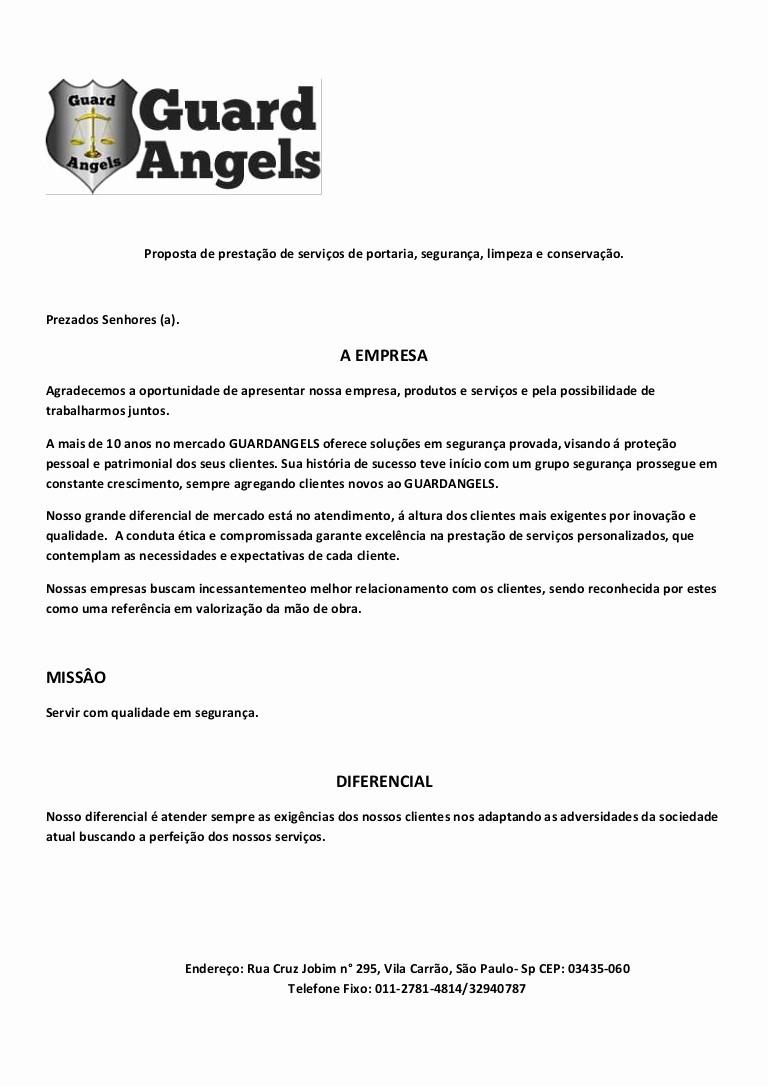 Carta De Apresentação De Empresa Awesome Apresentação Guardangels