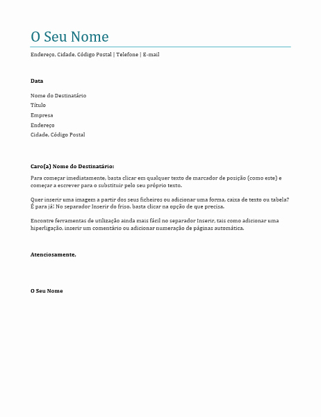 Carta De Apresentação De Empresa Best Of Carta De Apresentação Azul