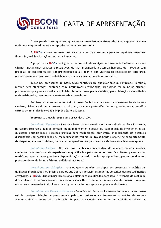 Carta De Apresentação De Empresa Elegant Carta De Apresentação by Tiago Bongiovani issuu