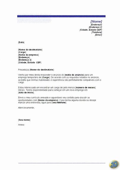 Carta De Apresentação De Empresa Elegant Carta De Apresentação Dicas De O Fazer
