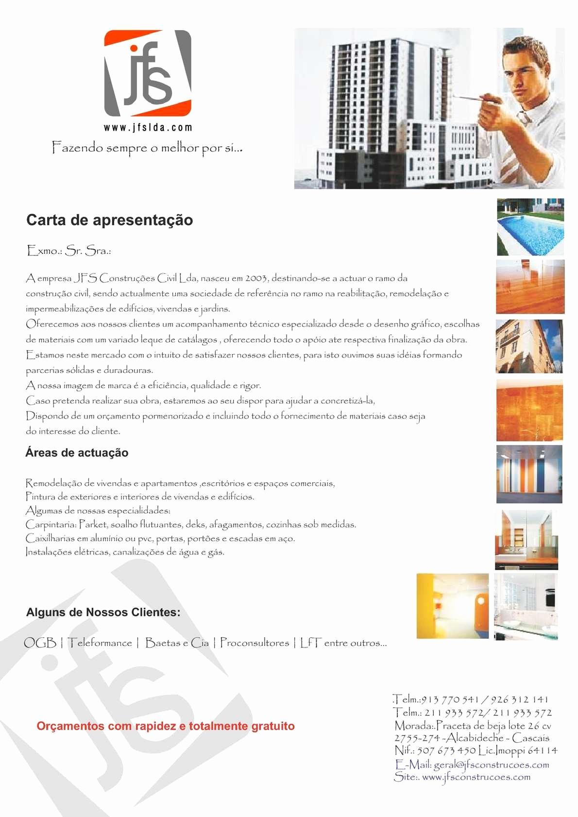 Carta De Apresentação De Empresa Fresh Calaméo Carta De Apresentação