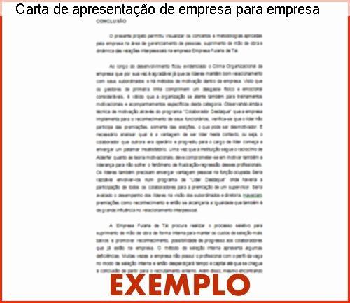Carta De Apresentação De Empresa Luxury Carta De Apresentação De Empresa Para Empresa Pronta