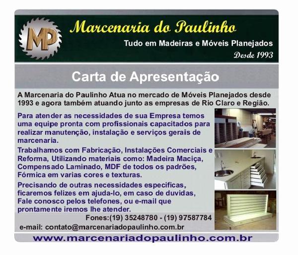 Carta De Apresentação De Empresa Luxury Foto Carta Apresentação De Marcenaria Do Paulinho Ltda Me