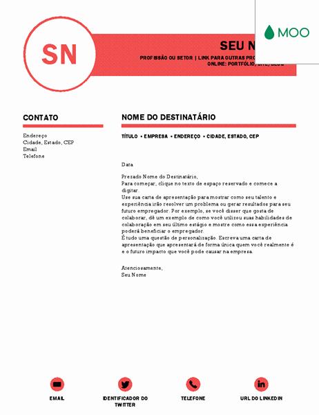 Carta De Apresentação De Empresa New Carta De Apresentação Elegante Elaborada Pela Moo