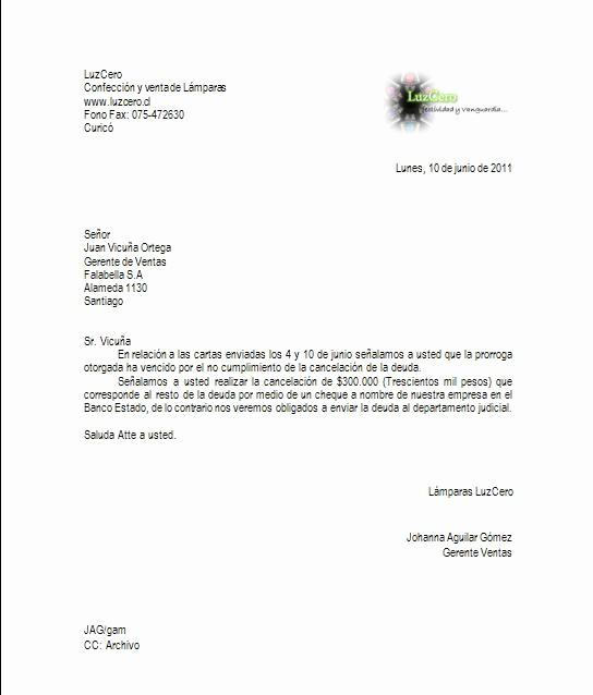 Carta De Cobro De Deuda Beautiful Redacción Y Aplicación Informática Invocatoria De
