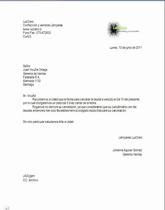Carta De Cobro De Deuda Best Of Redacción Y Aplicación Informática Invocatoria De