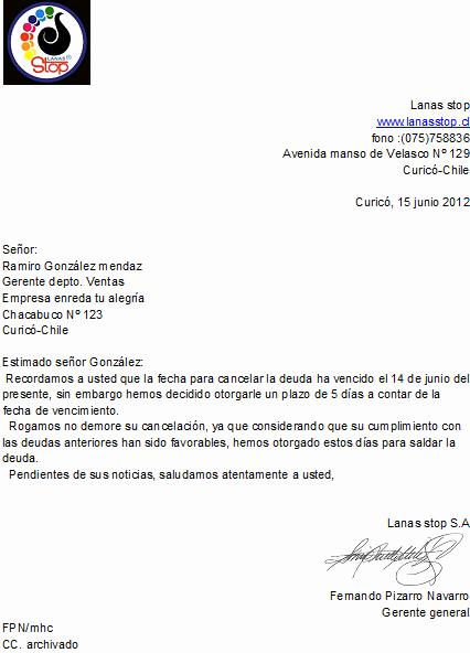 Carta De Cobro De Deuda Fresh Artesania En Lanas Enreda Tu Alegra Correspondencia De