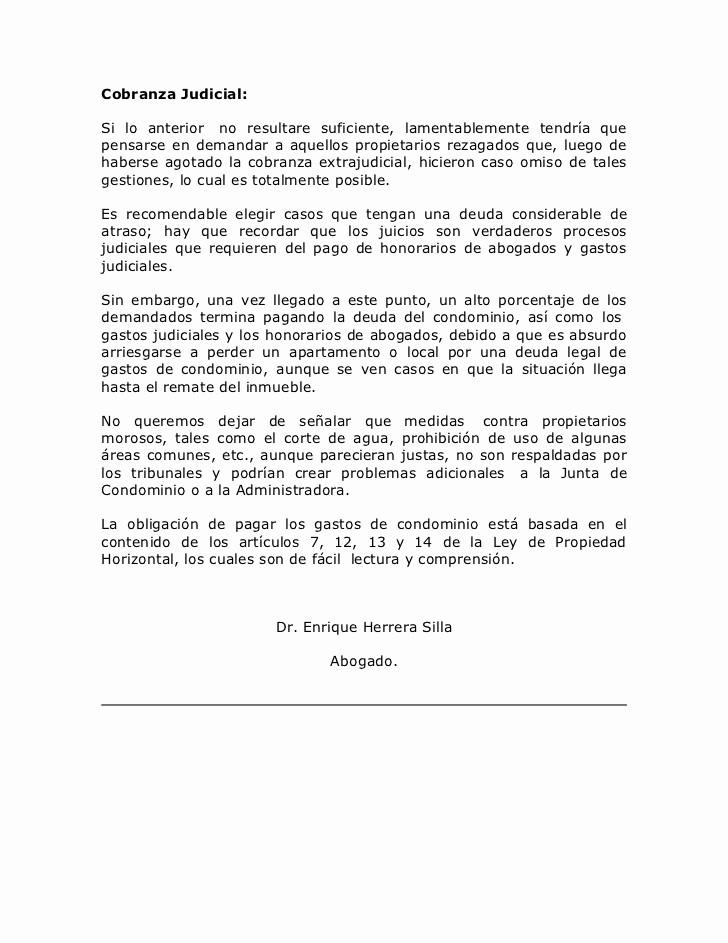 Carta De Cobro De Deuda Lovely Ideas Para Mejorar La Cobranza Extrajudicial De Gastos De