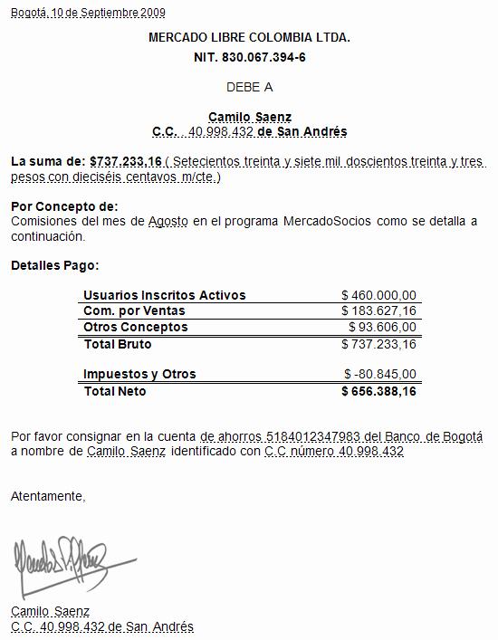 Carta De Cobro De Deuda Luxury Ercio Mayo 2013