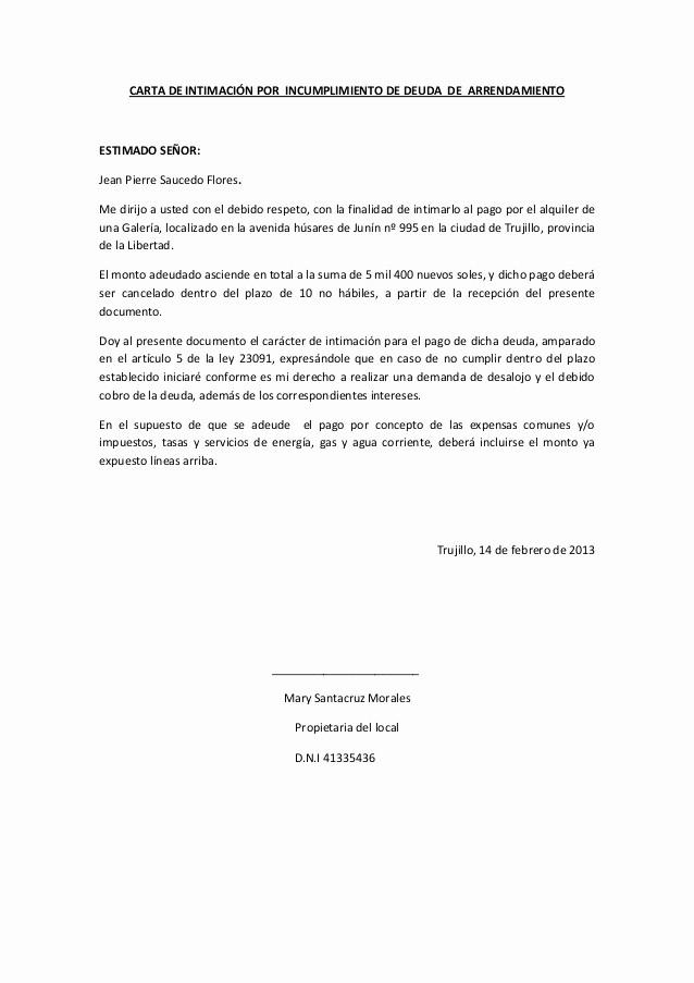 Carta De Cobro De Deuda Unique Contratos De Pensación Reconocimiento De Deuda Y Carta