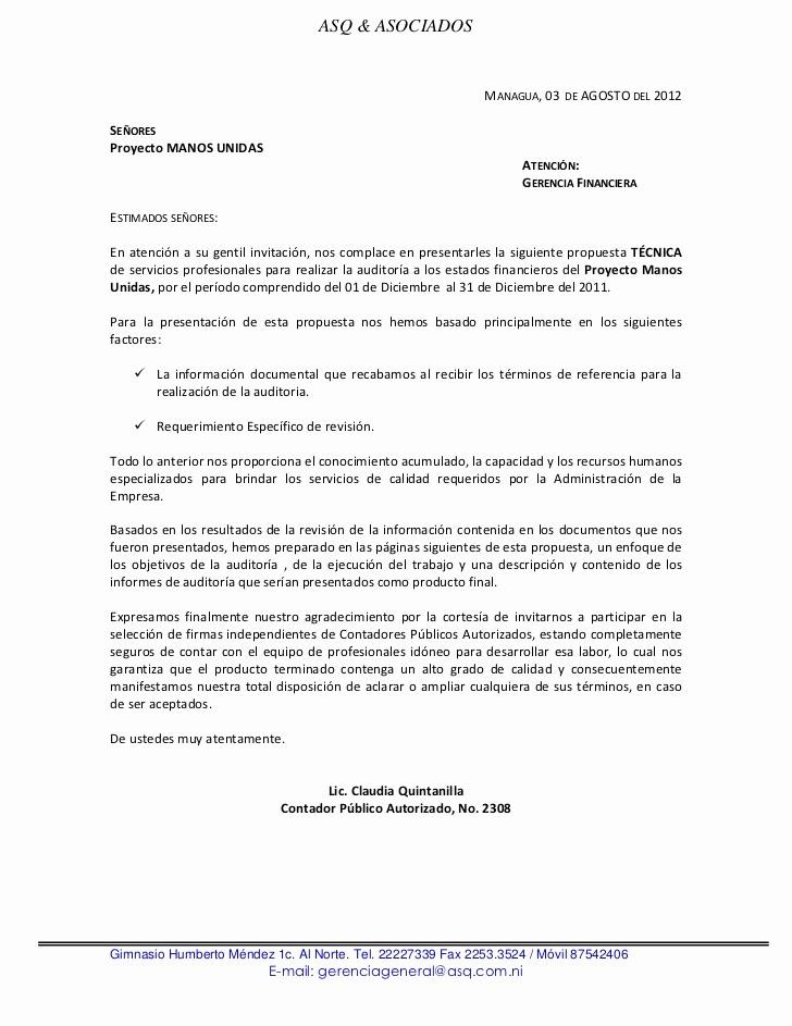 Carta De Oferta De Trabajo Best Of Erta Tecnica Economica