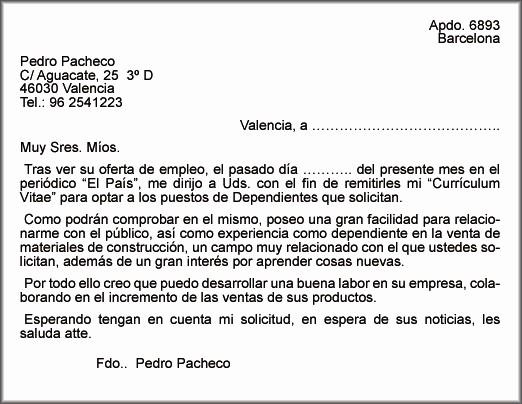 Carta De Oferta De Trabajo Inspirational La Carta De PresentaciÓn
