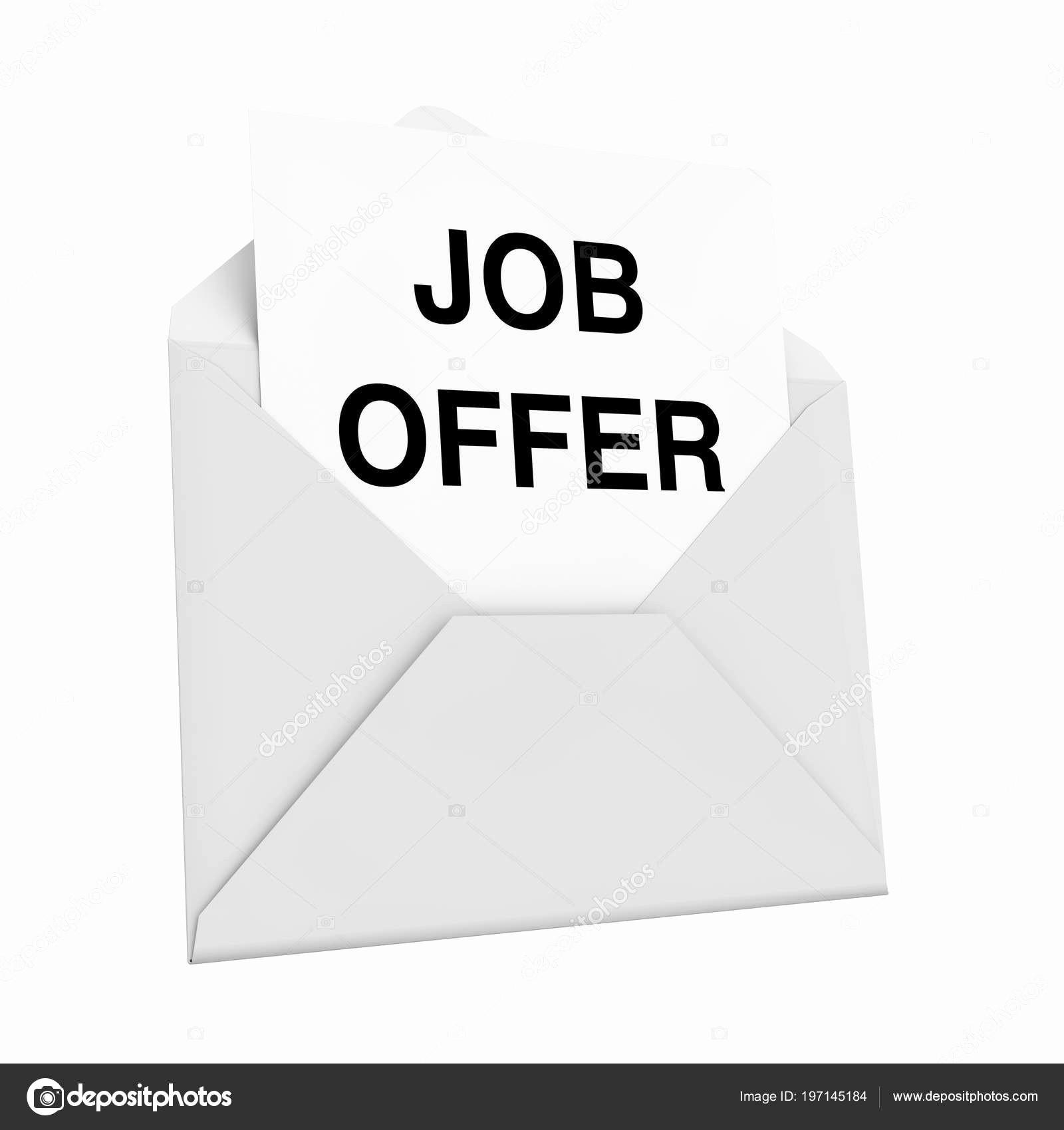 Carta De Oferta De Trabajo Luxury Envolvente Con Carta Erta Trabajo Fondo Blanco Render