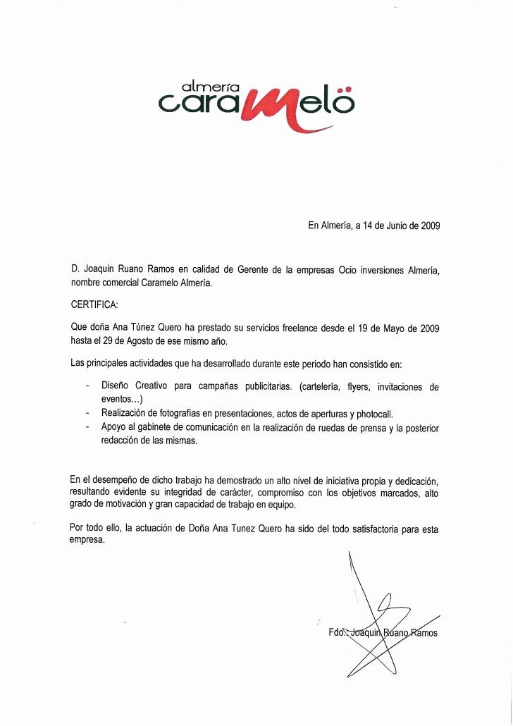 Carta De Recomendacion Laboral Pdf Beautiful Carta De Re Endación