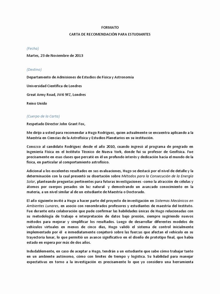 Carta De Recomendacion Laboral Pdf Beautiful Modelo Carta Re Endacion Pdf