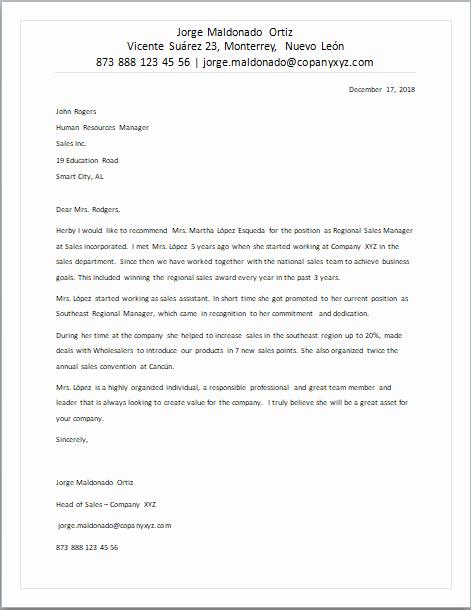Carta De Recomendacion Laboral Pdf Best Of Carta De Re Endación En Inglés formatos Y Ejemplos