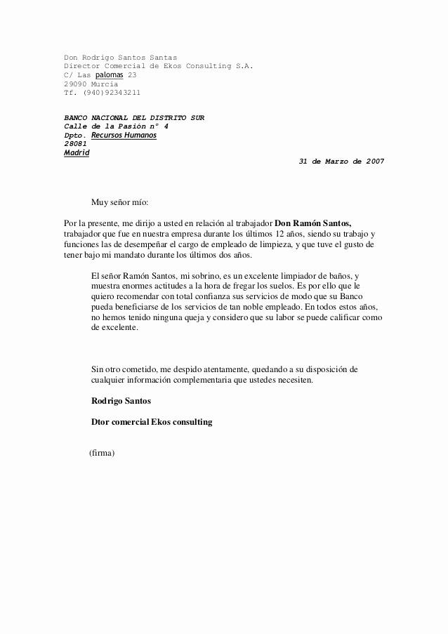 Carta De Recomendacion Laboral Pdf Inspirational Carta De Re Endacion Laboral Esslidesharenet Carta