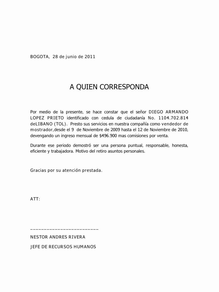 Carta De Recomendacion Laboral Pdf Luxury Carta De Re Endación Personal ¿cómo Hacer Una Aqu