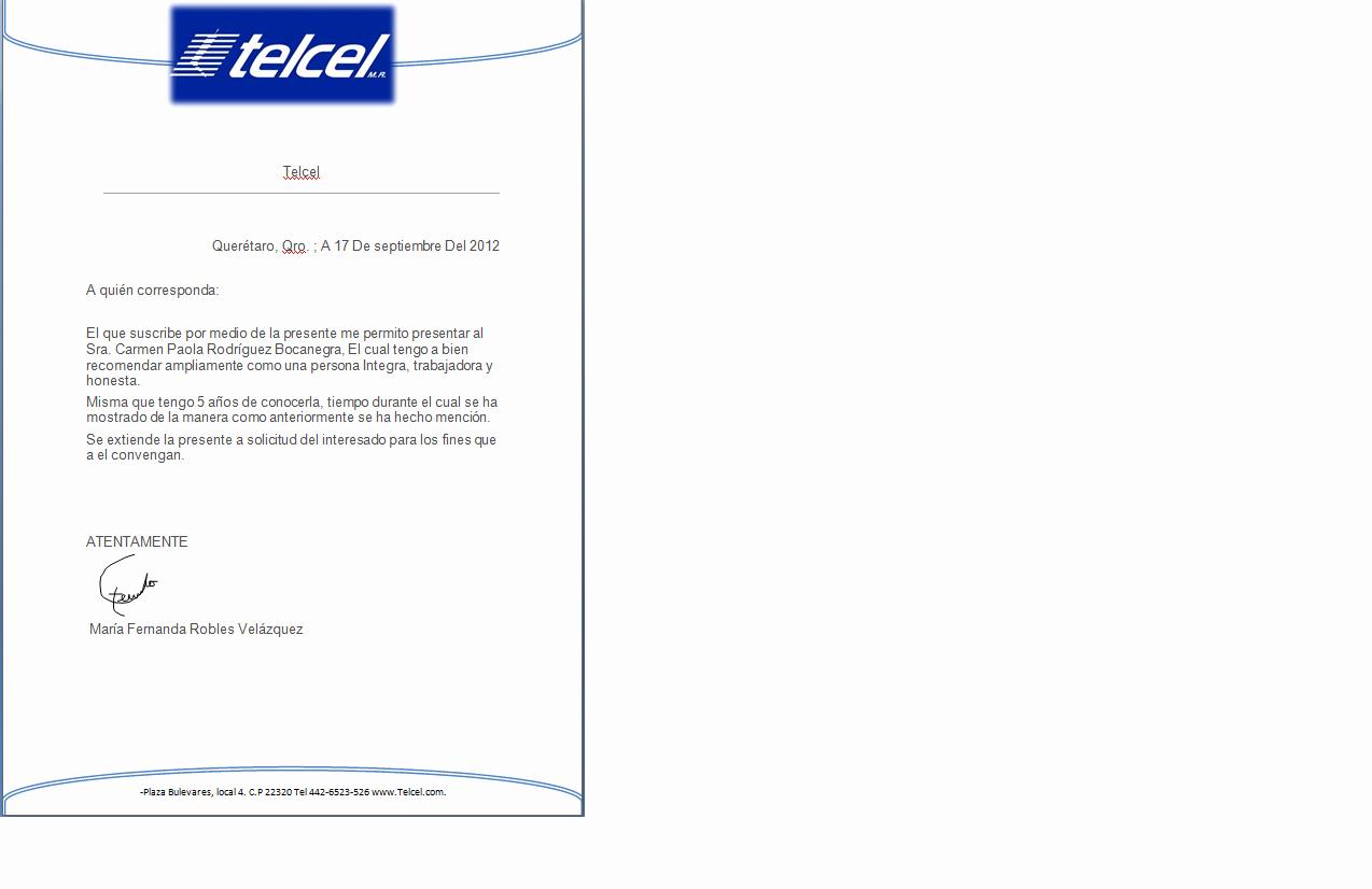Carta De Recomendacion Laboral Pdf New Evidencias De Informatica Maria Fernanda Robles Velàzquez