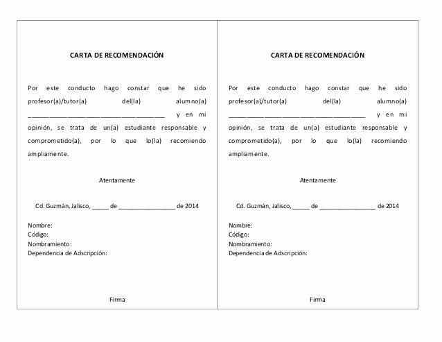 Carta De Recomendacion Para Estudiante Elegant Cartas De Re Endación Profesores