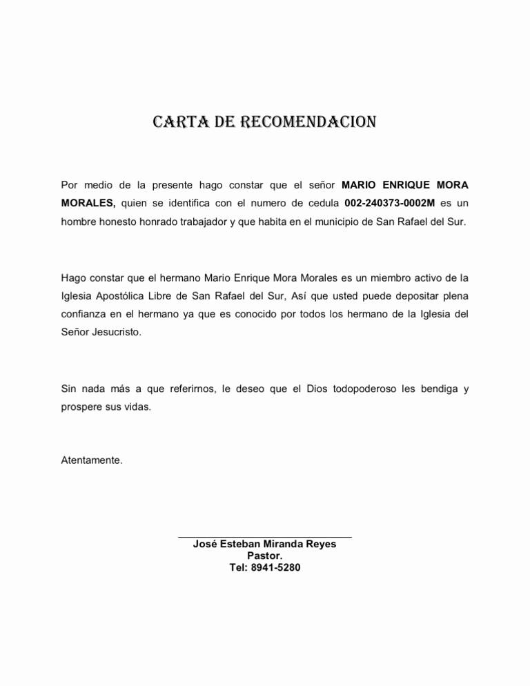 Carta De Recomendacion Para Estudiante Luxury Carta De Re Endacion