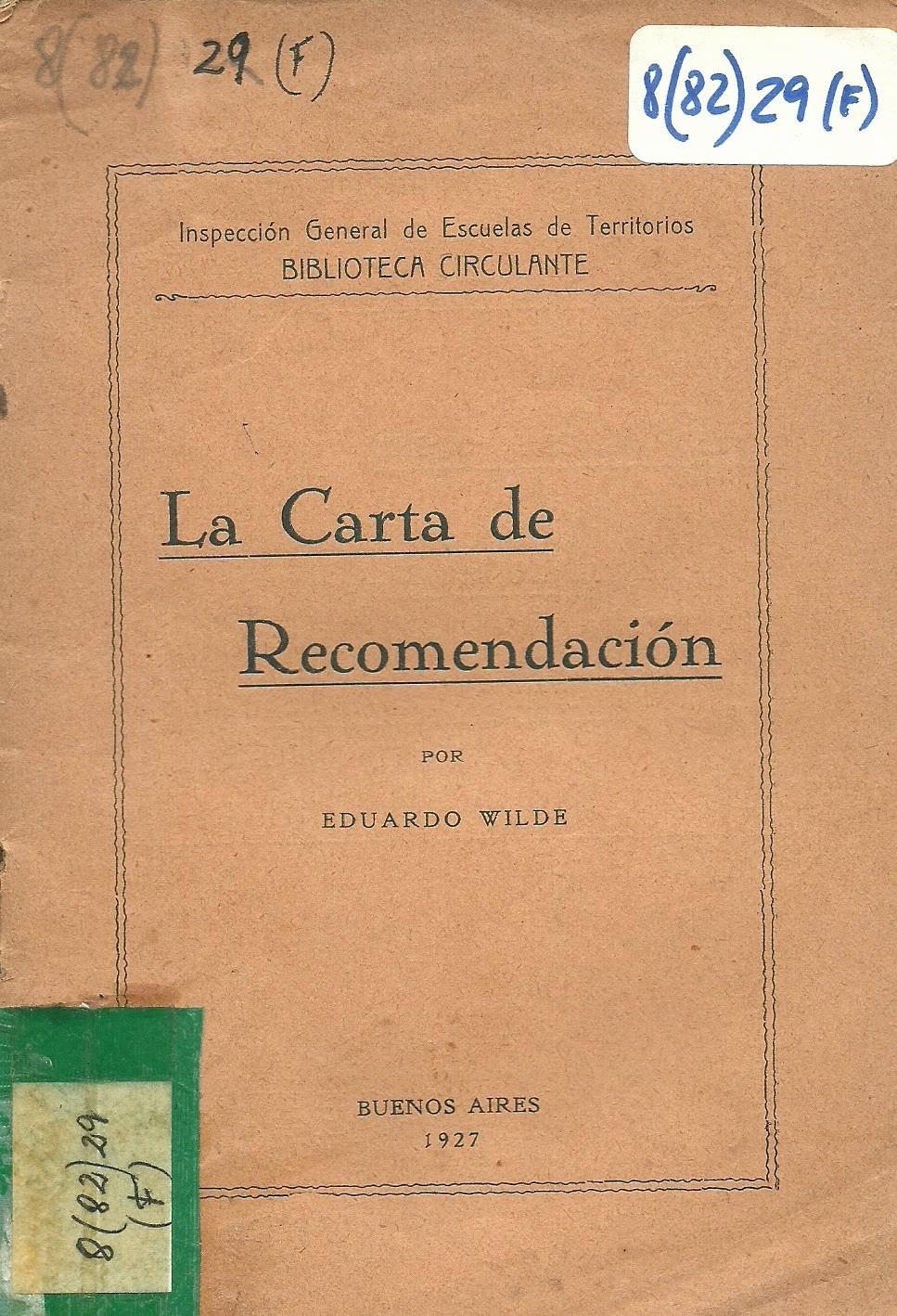 """Carta De Recomendacion Para Estudiantes Awesome El Quilmero En La Goyena """"la Carta De Re Endacion"""" De"""