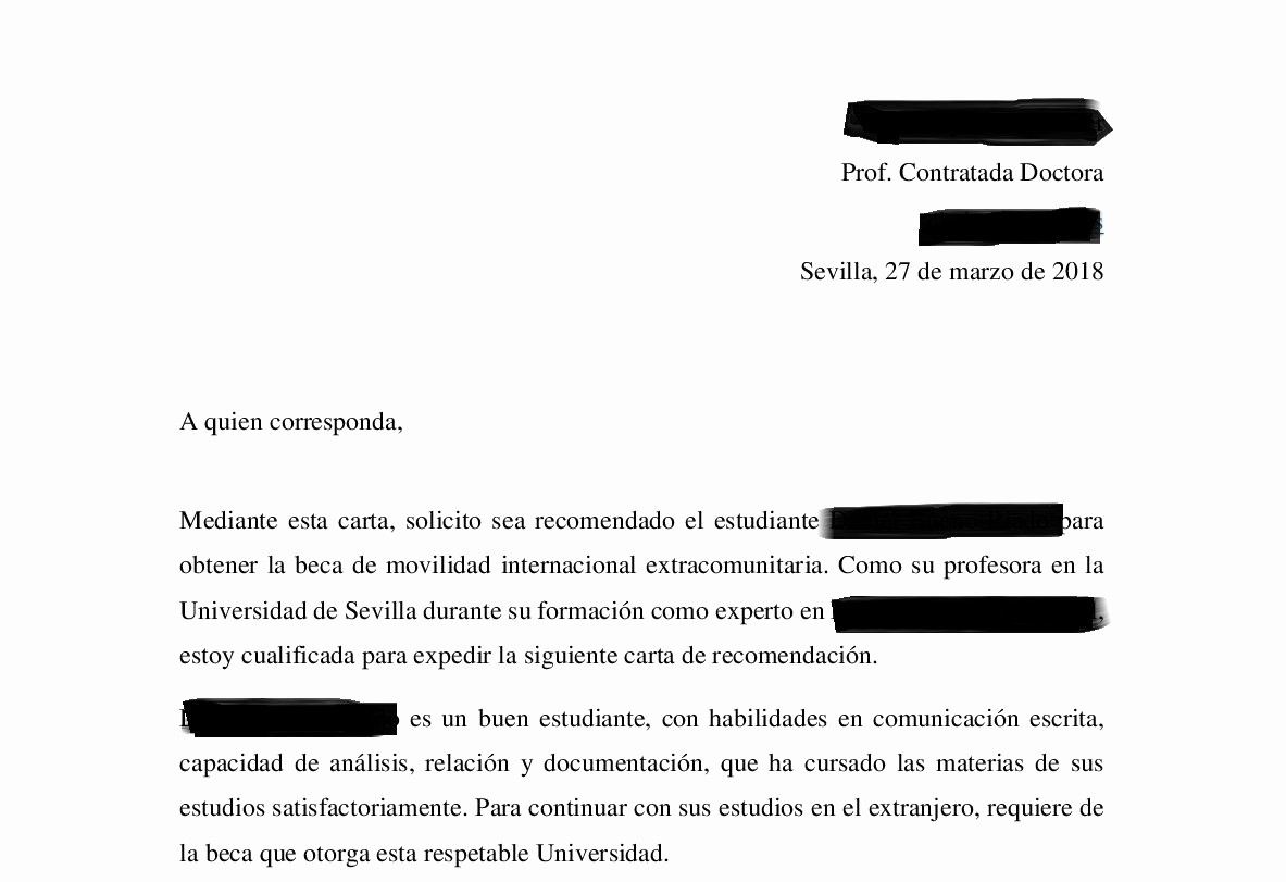 Carta De Recomendacion Para Estudiantes Awesome Traducción Jurada De Cartas De Re Endación Between
