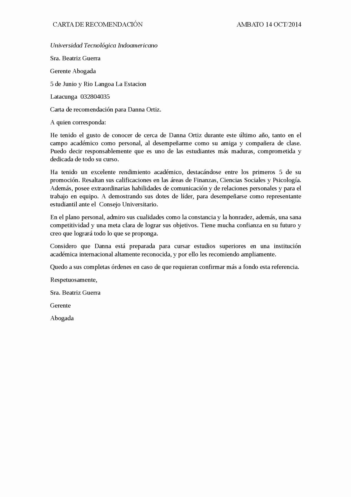 Carta De Recomendacion Para Estudiantes Luxury Calaméo Carta De Re Endacion