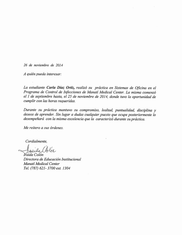 Carta De Recomendacion Para Estudiantes Unique Carta De Re Endacion 2