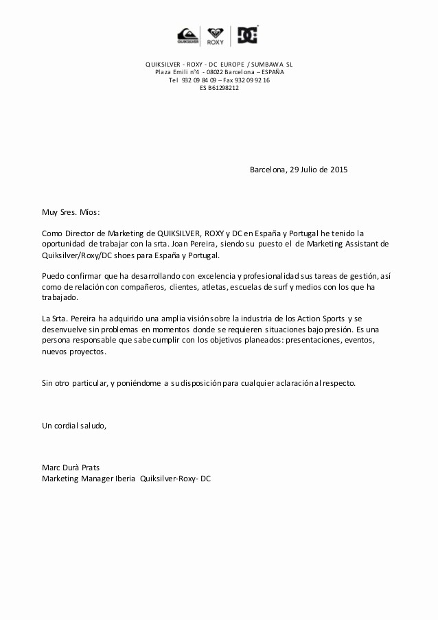 Carta De Recomendacion Para Trabajo Beautiful Carta Re Endacion Joana
