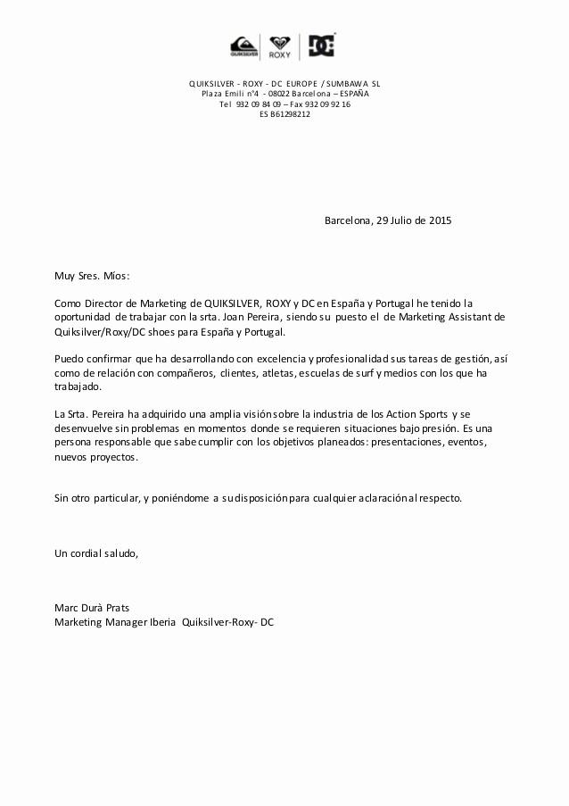 Carta De Recomendacion Para Trabajo Beautiful Carta Re Endacion Joana