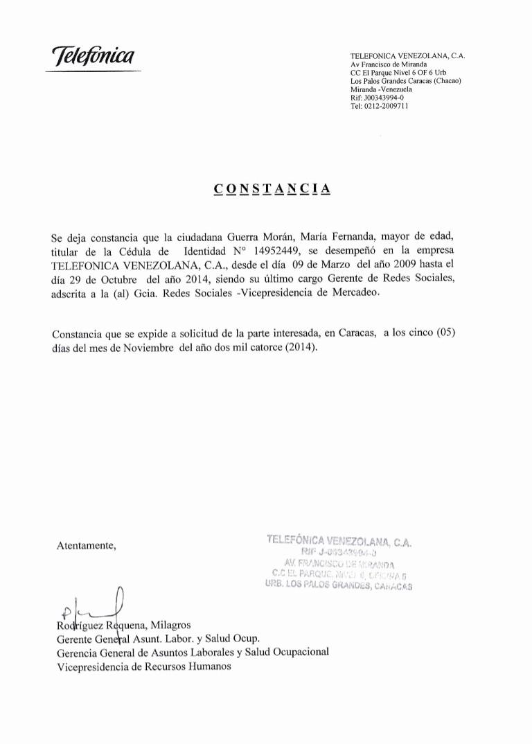 Carta De Recomendacion Para Trabajo Elegant Carta De Referencia Telefónica